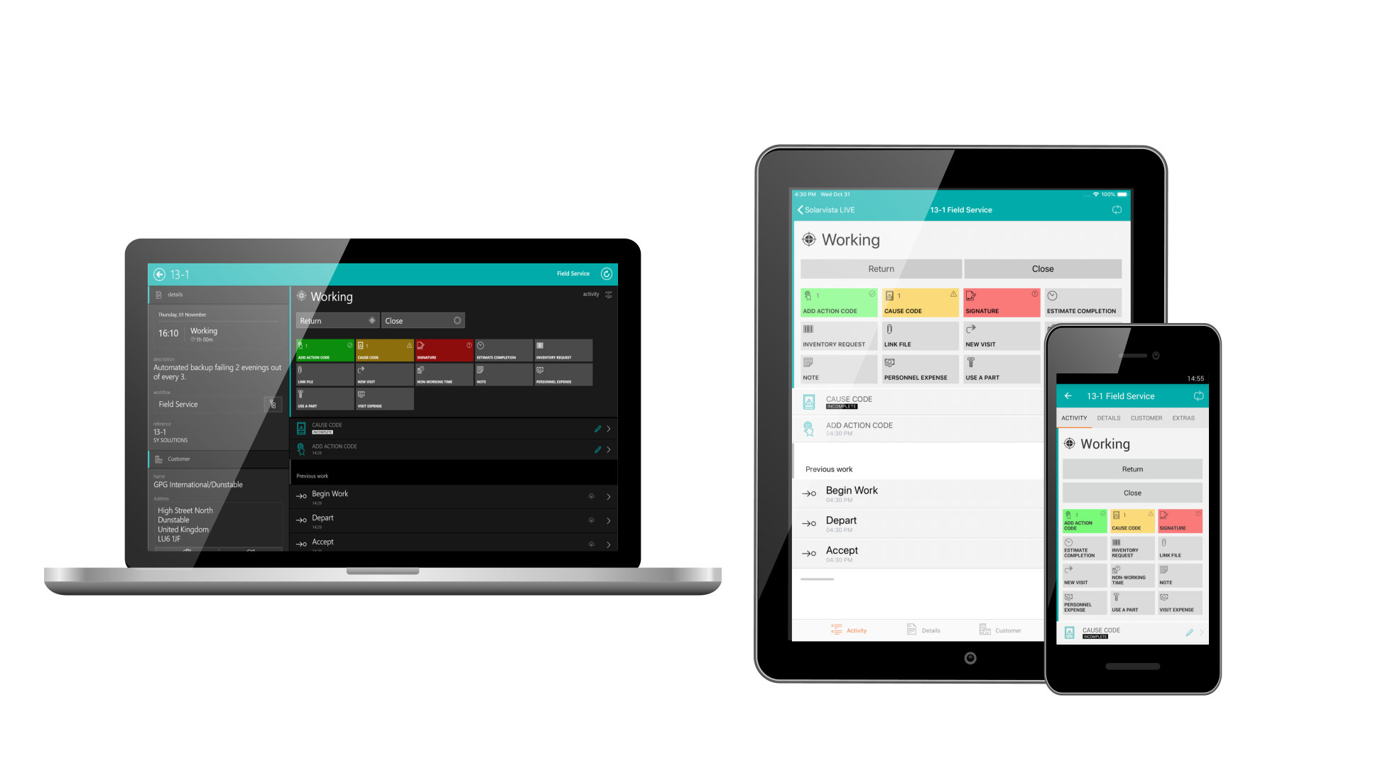 Solarvista LIVE Features | Field Service & Workforce Management